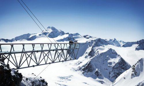 Gletscher Soelden Skifahren
