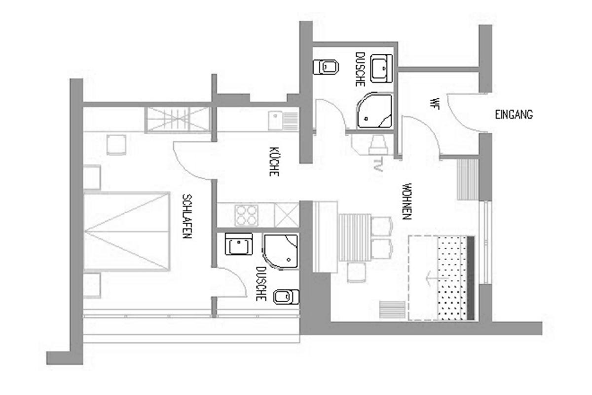Appartement direkt an der Skipiste